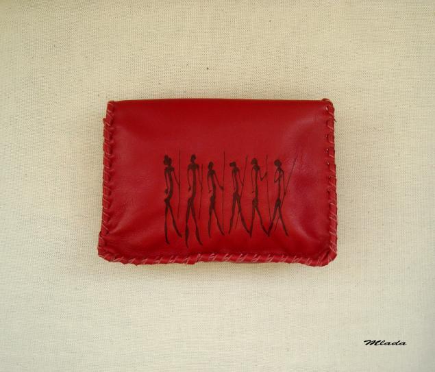 ярко - красный, ключница, блокнот с нуля