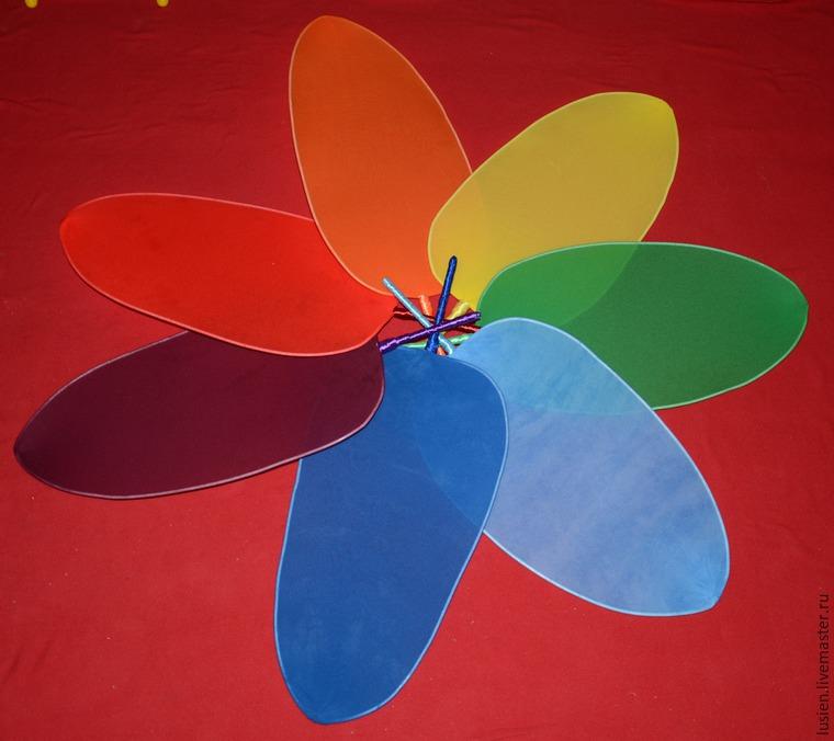 Как сделать лепестки семицветика 698