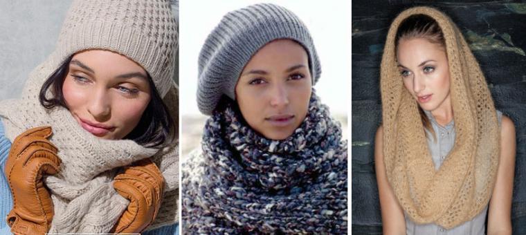 снуд вязаный, красивая зима, вязание на заказ