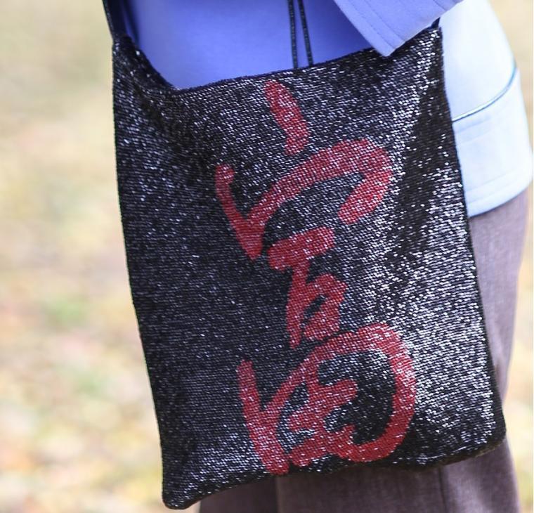 вязание с бисером, мастер класс по вязанию, ирина рудевич, чехол на телефон, бисерная сумочка, вязаная сумка с бисером