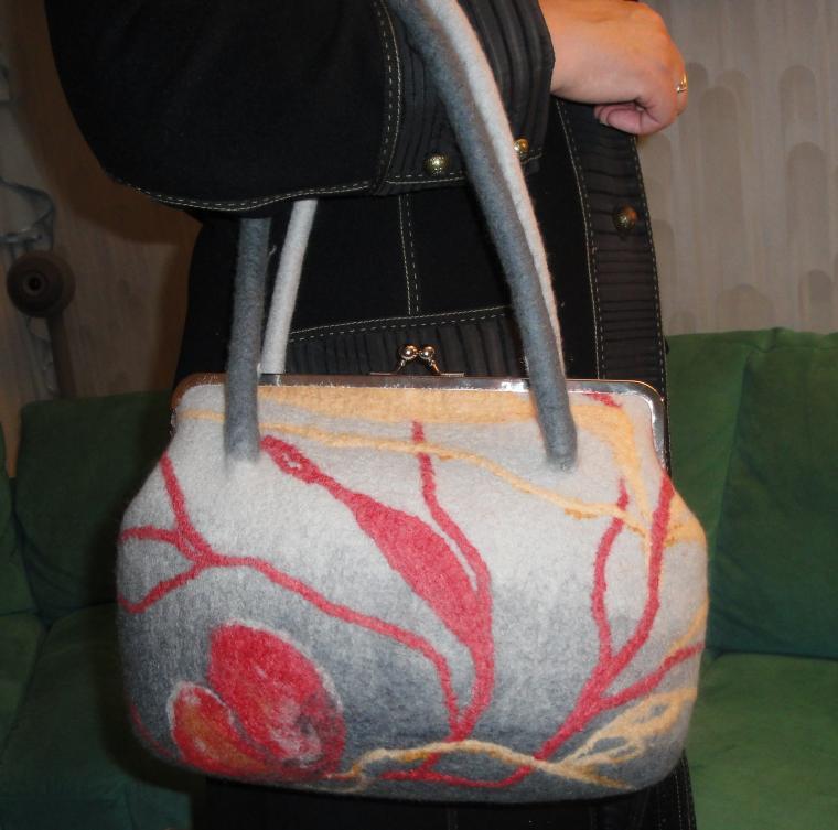 сумка валянная, женская сумка, сумка своими руками, мастер-класс по валянию, сумки анны кабановой