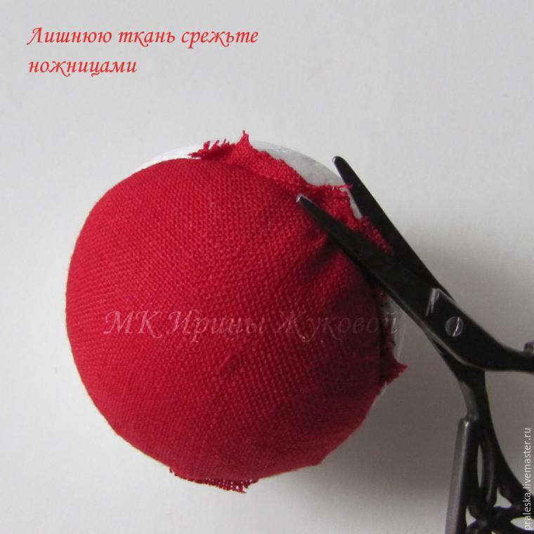 Делаем новогодние шары «Зимняя вишня», фото № 6