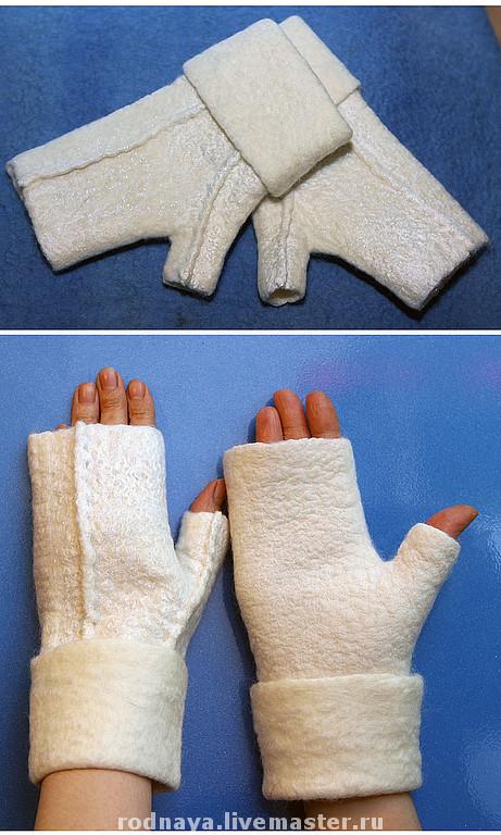 Как сделать шаблон для перчаток валяние 84