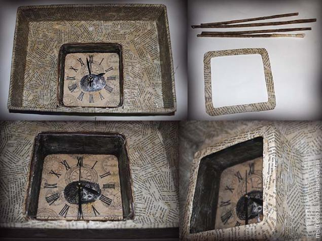 мастер-класс часы с ежами