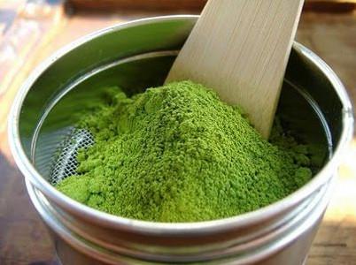минеральная пудра, зеленый чай