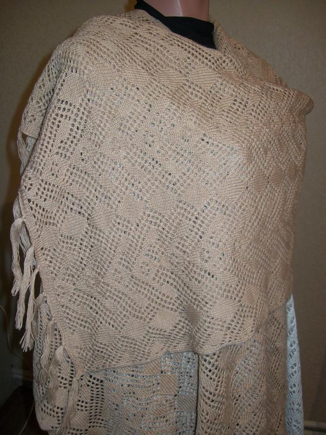 палантин, распродажа готовых работ, распродажа вязаных работ, акция магазина, машинное вязание, подарок своими руками, шарф вязаный