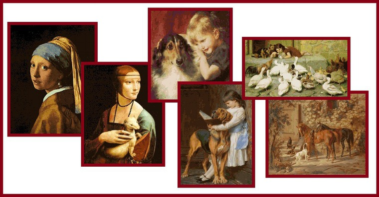 Схемы вышивок по знаменитым картинам