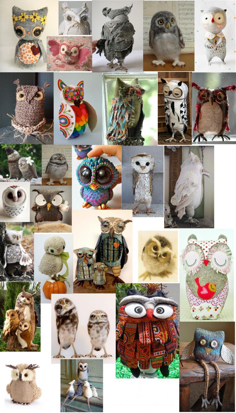 У вас еще нет совы? Тогда вам сюда, или Бесконечное разнообразие изделий с мудрыми птичками