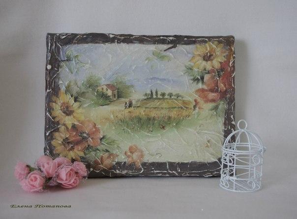 Имитируем фреску: создаем панно на холсте - Ярмарка Мастеров - ручная работа, handmade