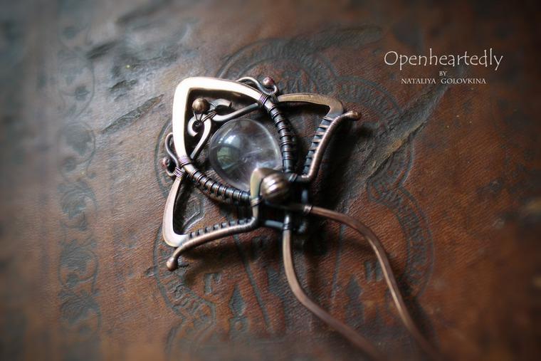 украшения ручной работы, украшения из металла, wire work
