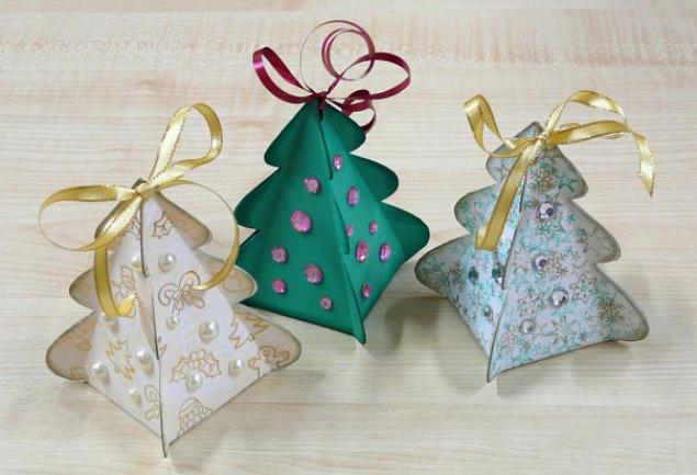 Идеи для творчества и подарков своими руками.  Коробочка для подарка ''Ёлочка.