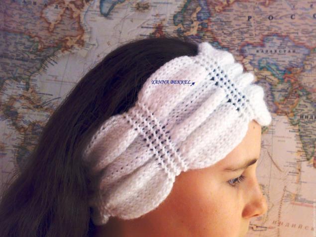 Вяжем повязку на голову «жатка», фото № 13