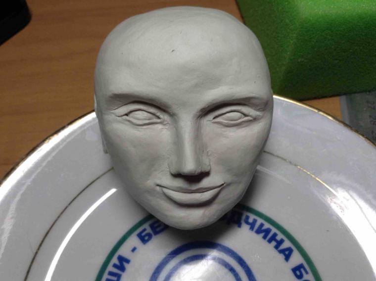 лицо куклы, помощь новичку, самозатвердевающая глина