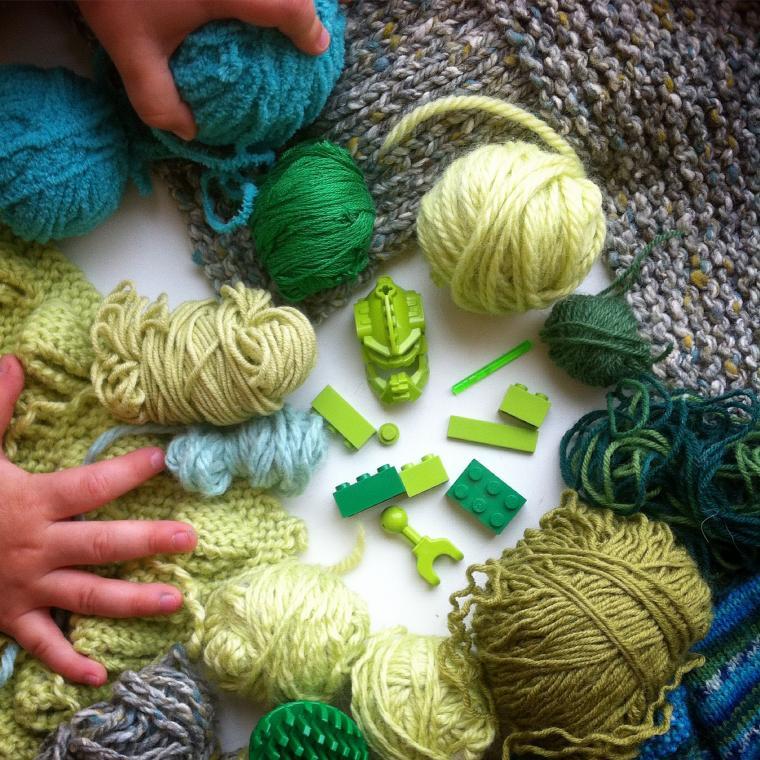 wool, knitting