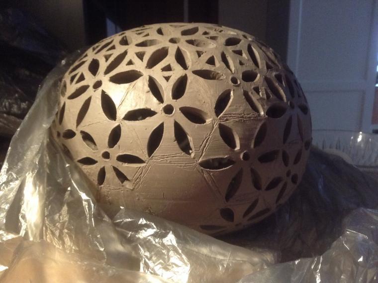 техника, изготовление керамики, шаблон