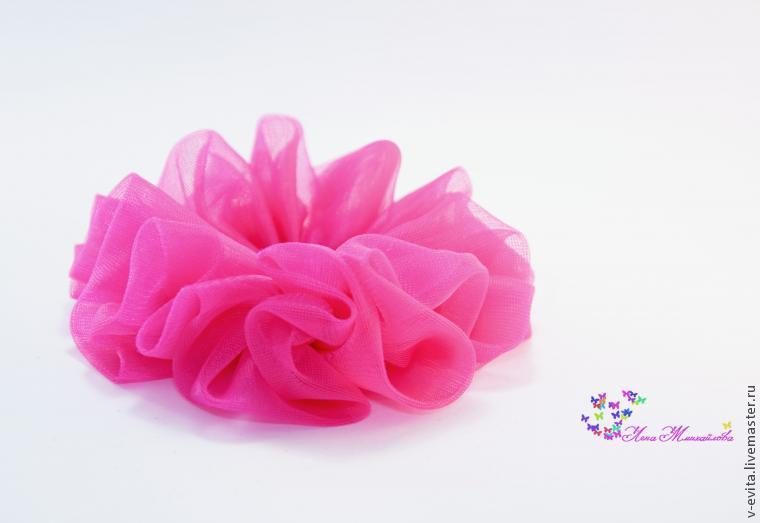 Делаем цветочек — текстильное украшение для волос, фото № 4