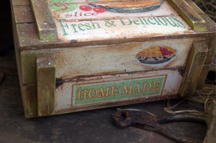 короб для хранения, кухня прованс