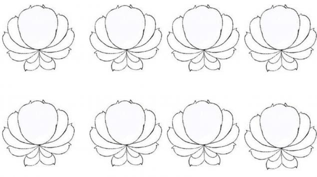 мк роспись, тагильская роза, один мазок, цветы