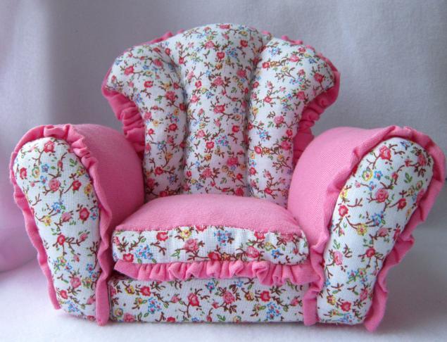 мебель, миниатюра, мини кресло