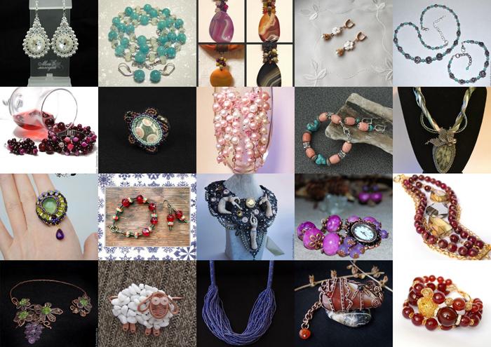 бижутерия, галерея бижутерии, украшения, украшения ручной работы, бижутерия своими руками, галерея бижутерии январь