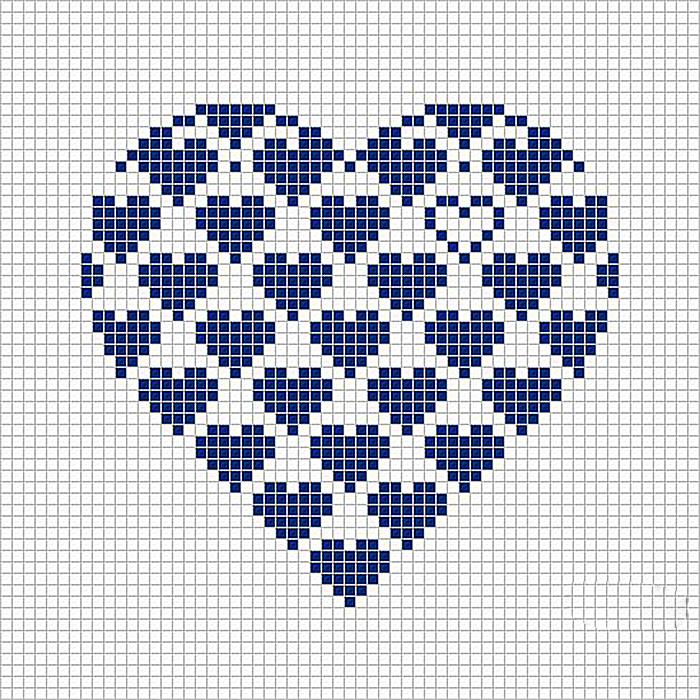 Вышивка сердечек фото