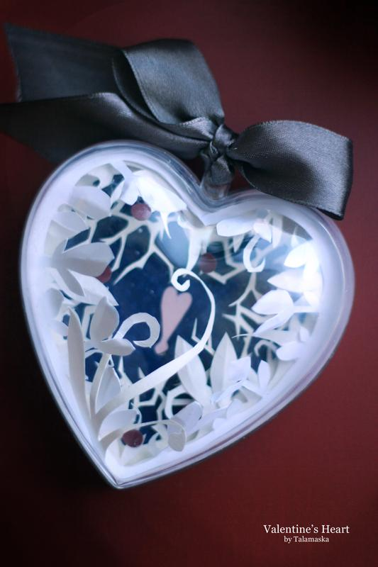 валентинка, бумага
