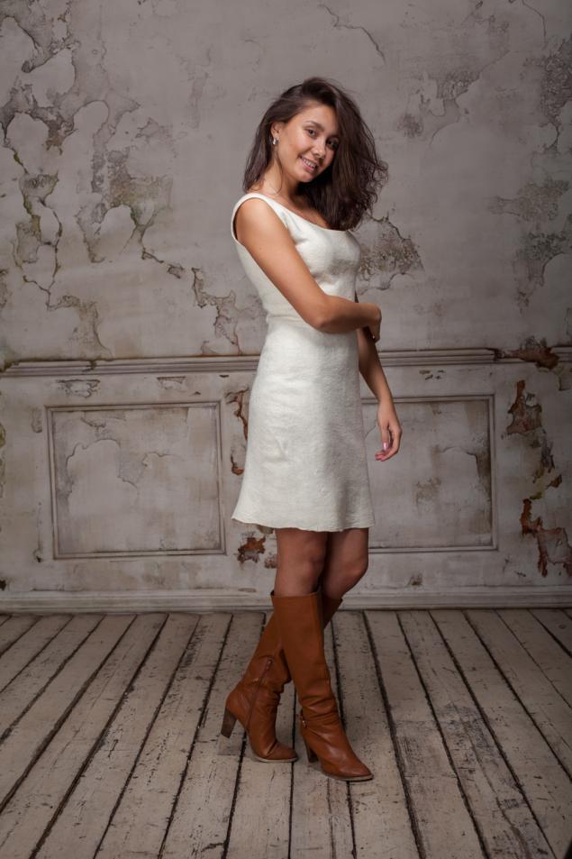 новое платье, платье из войлока