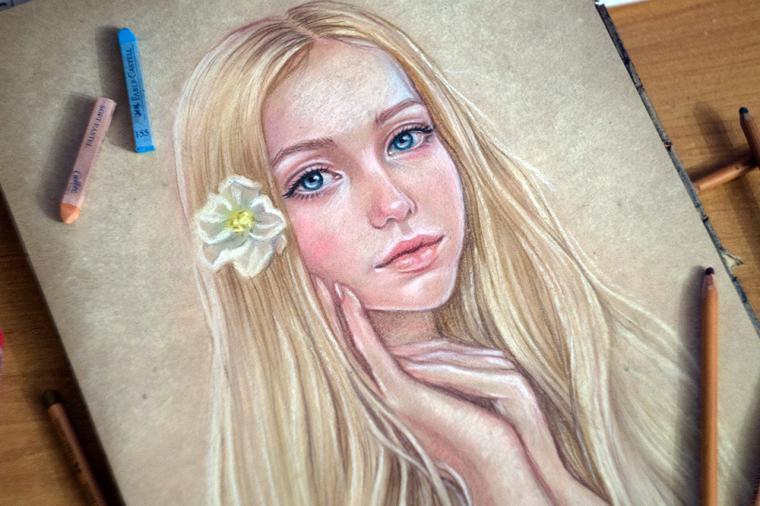 Поэтапное рисование масляной пастелью для начинающих