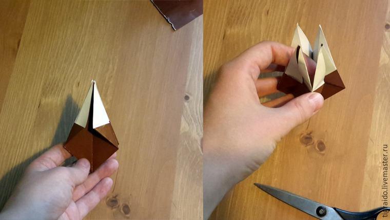 Оригами: пасхальная курочка, фото № 8