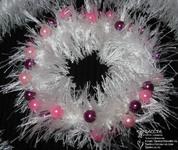 Мастерим комплект «Брусничная изморозь» из пряжи-«травки», фото № 15