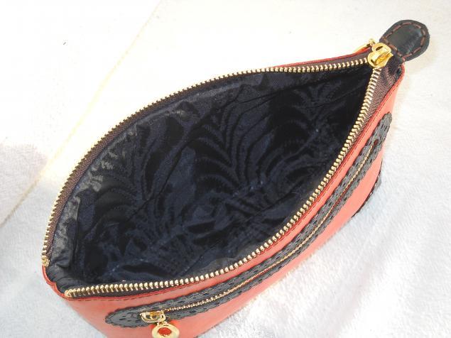 сумка женская, косметичка из кожи