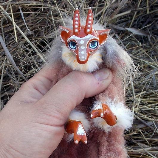 игрушка коза, талисман года, коза