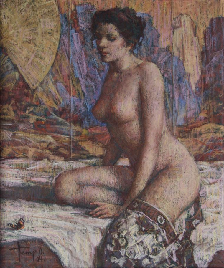 картина с женщиной