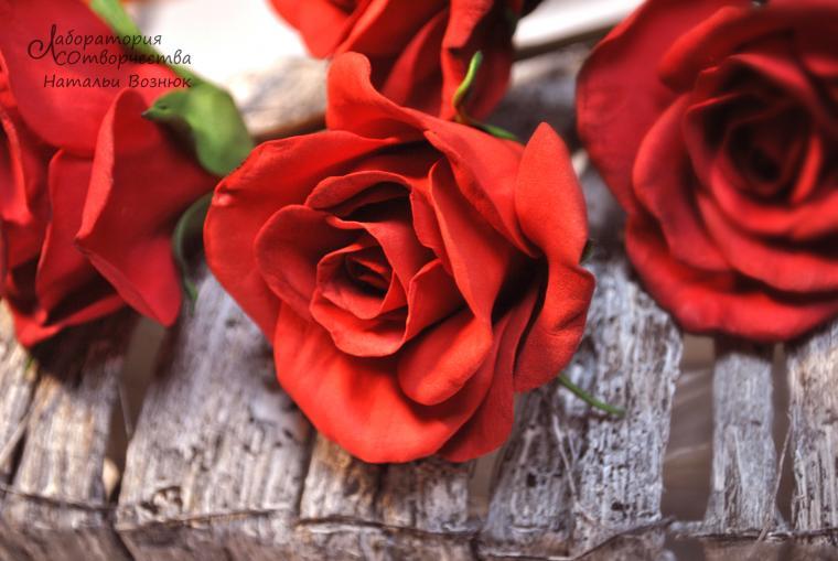 роза и фоамирана, украшения ручной работы, обучения флористике