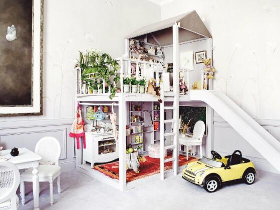 дизайн интерьера, детская, детская комната, детская мебель, кукольный домик, кукольный дом, миниатюра