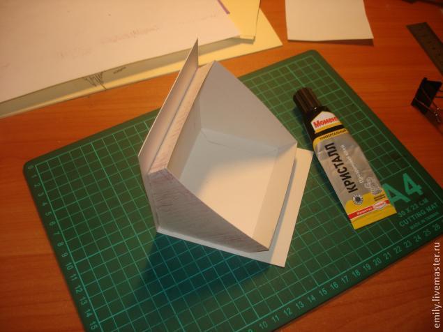 Как сделать домик из бумаги и крышу
