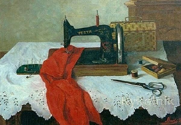 Рисунок книгу о тряпку швейная машина фото оно, чувствовать