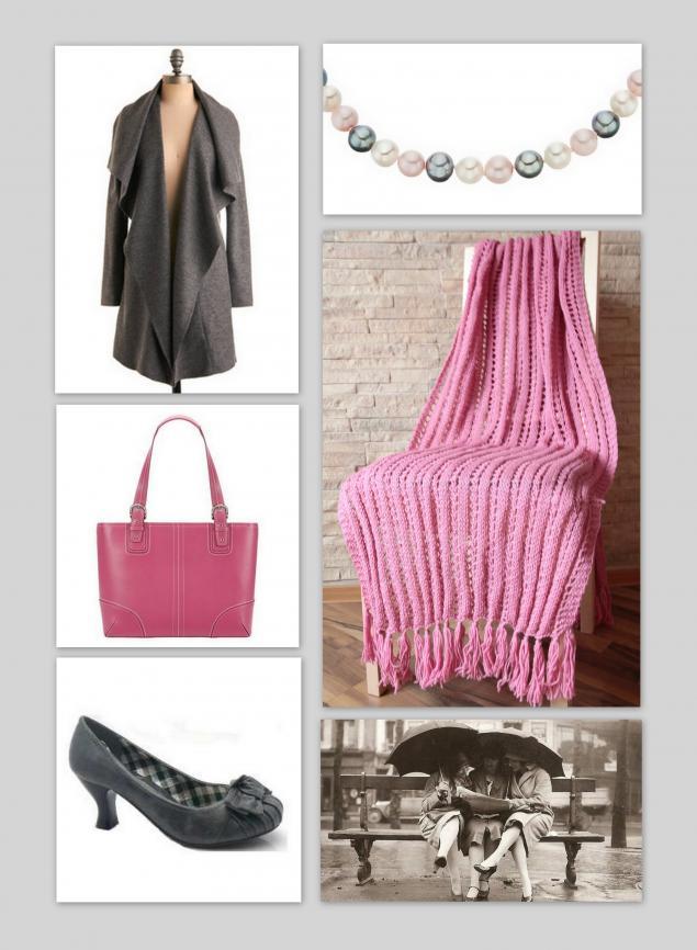 сочетание цветов, советы, палантин, розовый, серый
