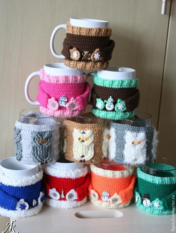 свитер на кружку, грелка для кружки
