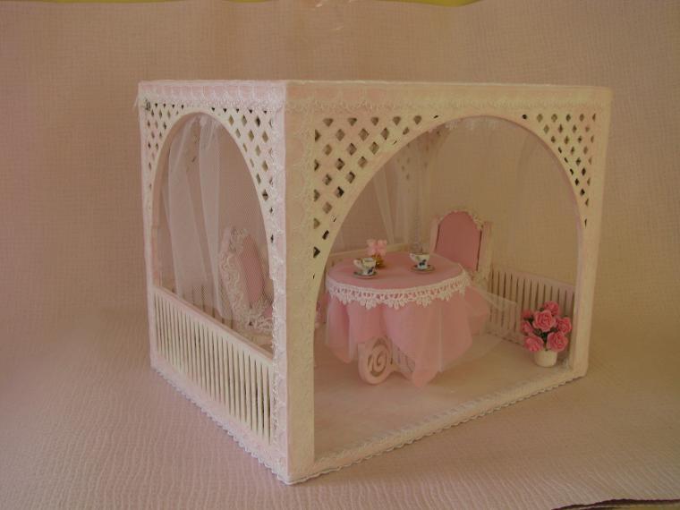 кукольный домик, чаепитие