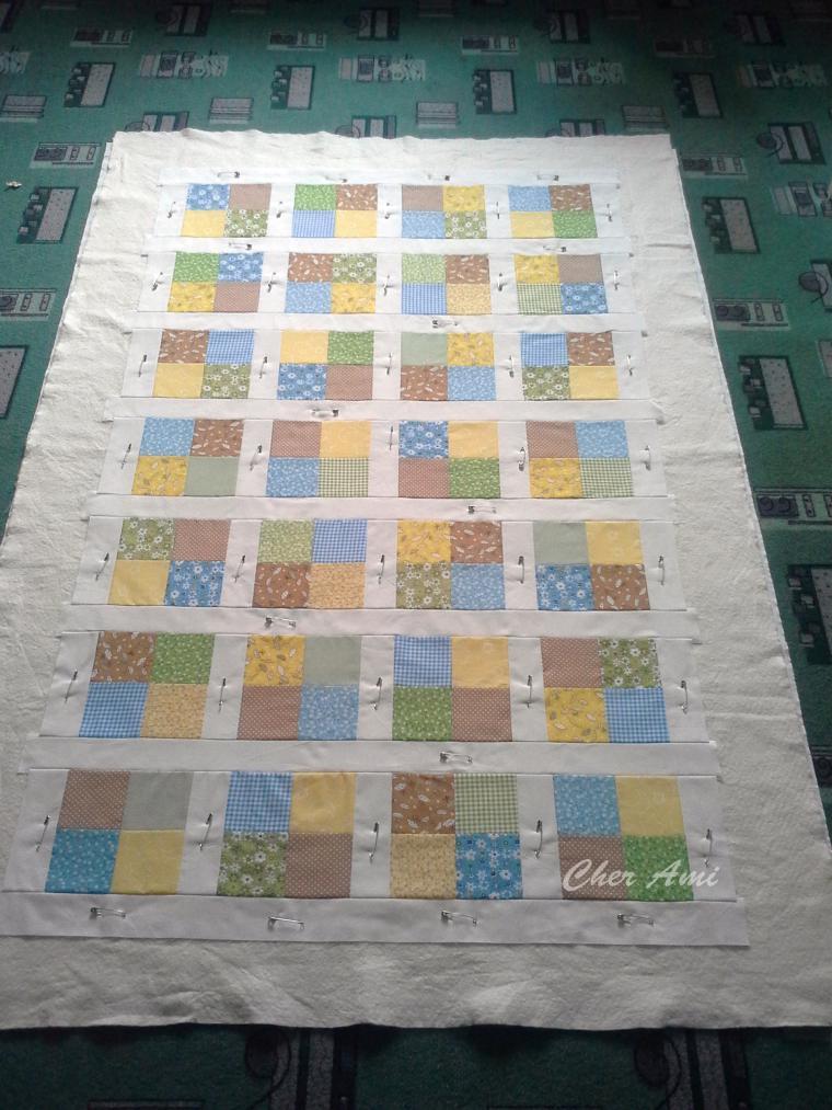 Мастер-класс: шьем несложное лоскутное одеяло, фото № 14