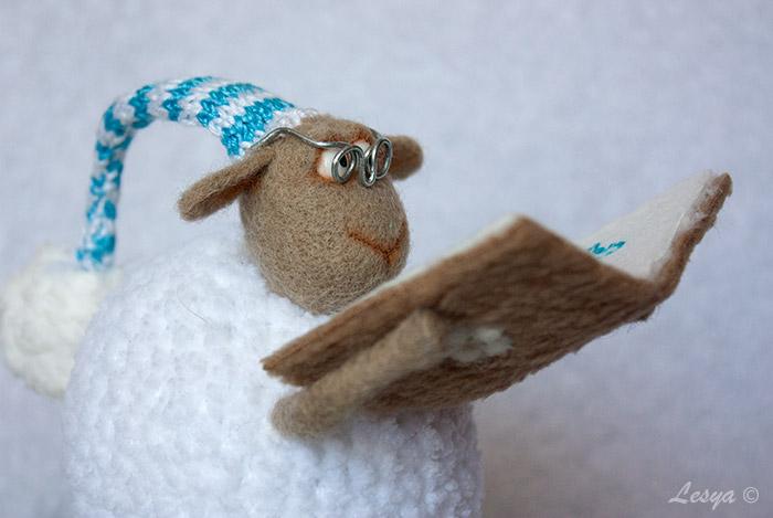 игрушка, ручная работа, игрушка из шерсти, игрушка ручной работы, овечка, валяние, вязание, символ года, символ 2015 года, handmade