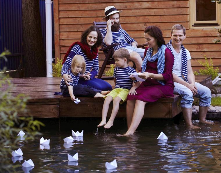 семья, авторский трикотаж