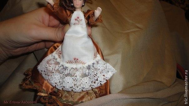 Одежда для кукол .Фартучек., фото № 24