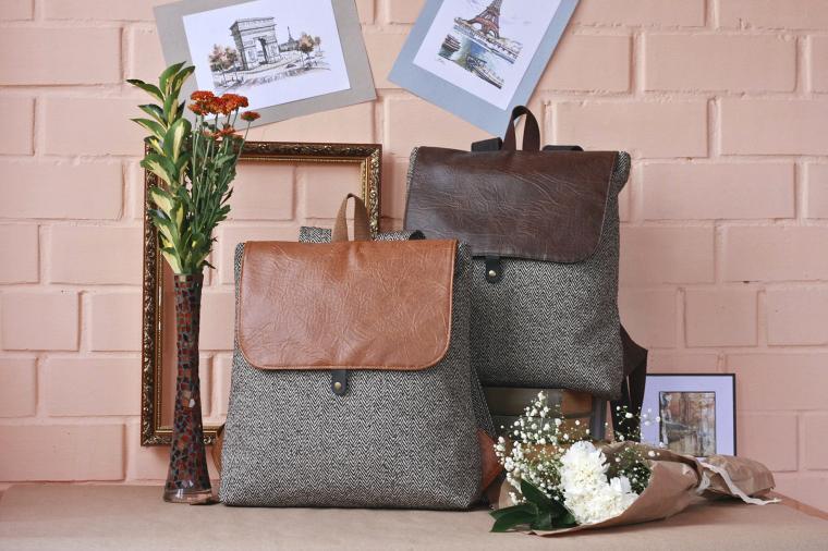 твидовая сумка, осень-зима 2014, текстильная сумка
