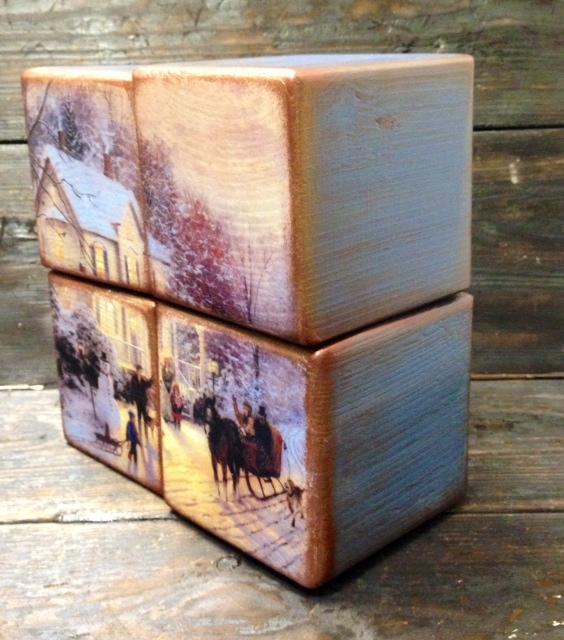 Набор интерьерных кубиков - прекрасный новогодний подарок! Новинка нашей студии!, фото № 12