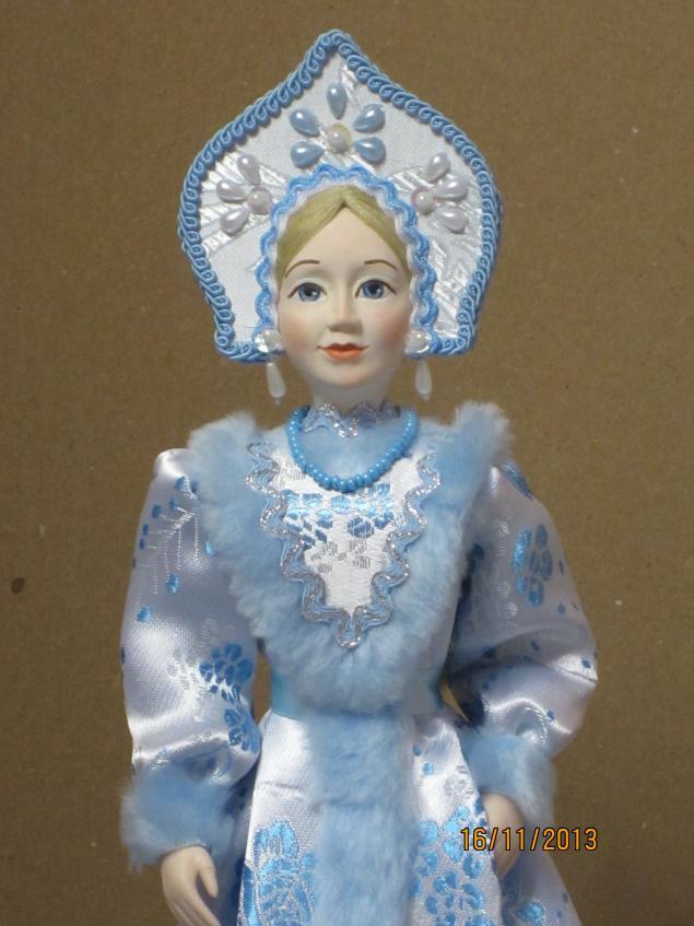 новогодние сувениры, фарфоровая кукла, интерьерная кукла, кукла для девочки
