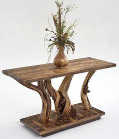 Living Room Upholstered Furniture, Rustic Cottage Decor, Farm Furnishings, Handmade Furniture  I LOVE this Sofa table!!!