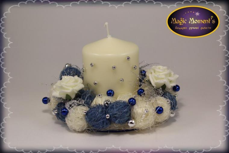 декор мебели, декорирование свечи, декор, декорирование, подарок своими руками, подарок на новый год, интерьер, украшение интерьера, интерьерное украшение, украшение стола, новый год
