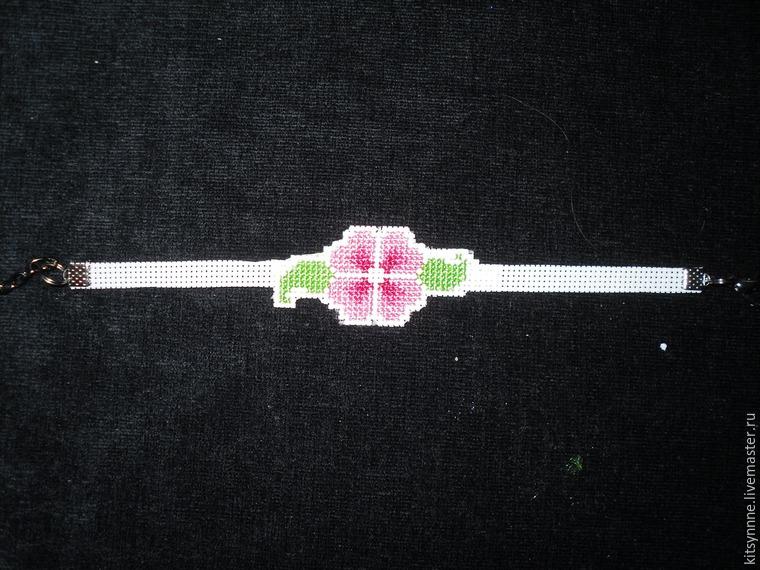Как сделать браслет с вышивкой «Весеннее настроение», фото № 10